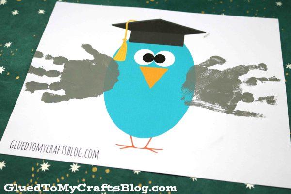 Graduation Handprint Owl w/free printable
