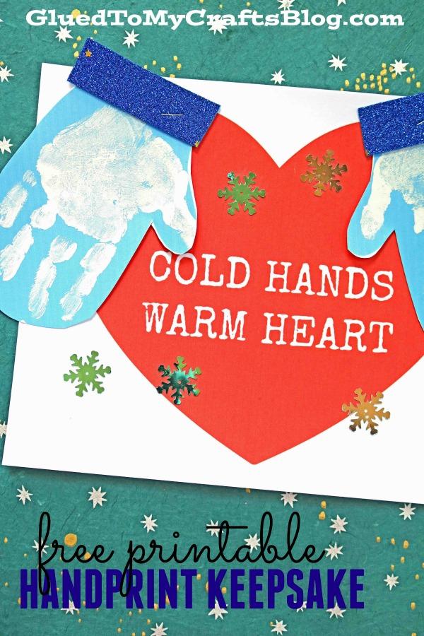 Cold Hands, Warm Heart Handprint Craft
