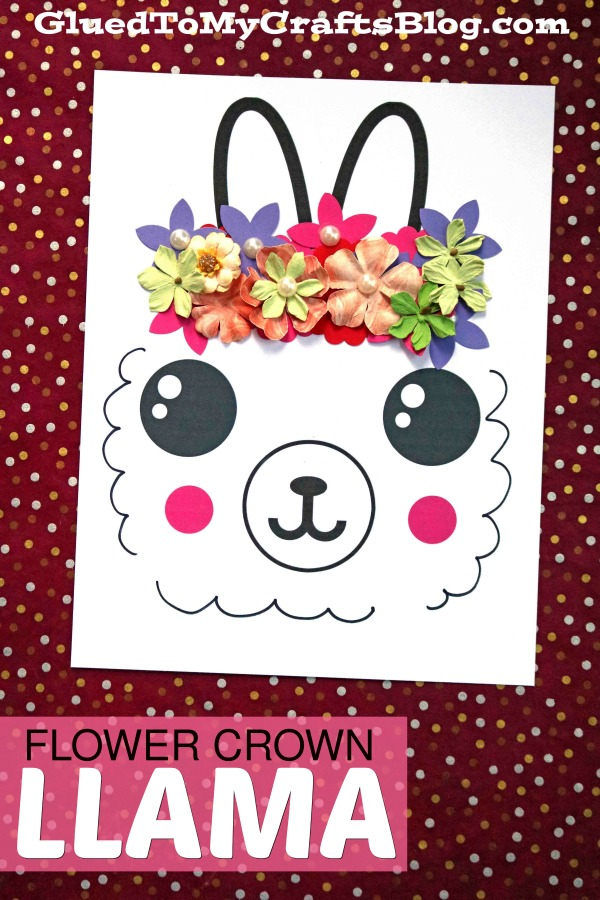 Flower Crown Llama - Paper Kid Craft