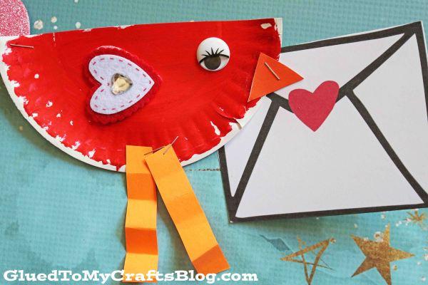 Paper Plate Valentine Love Bird - Kid Craft