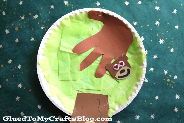 Paper Plate Monkey In A Tree {Kid Craft}