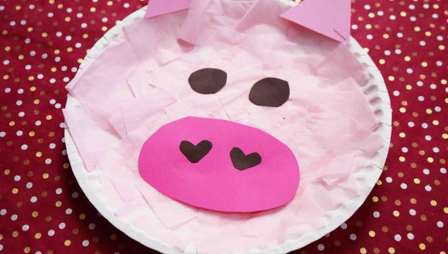 Paper Plate Piggy {Kid Craft}