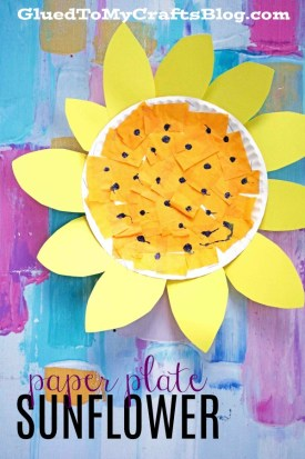 Paper Plate Sunflower {Kid Craft}