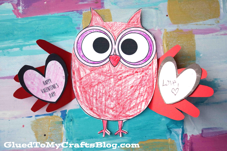 Paper Valentine Holding Owl