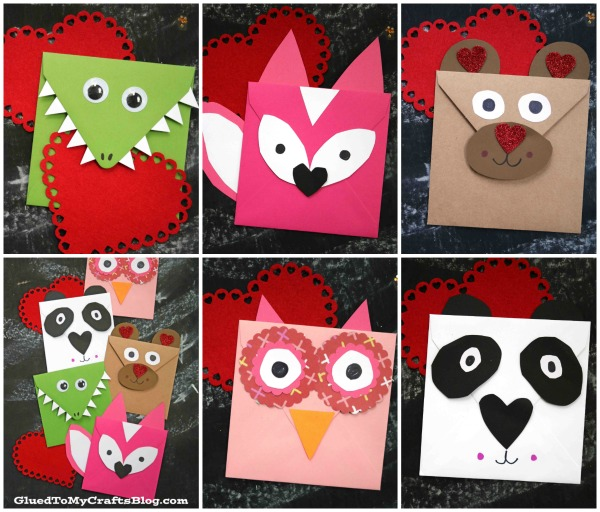 Envelope Valentine Critter Friends - Kid Craft