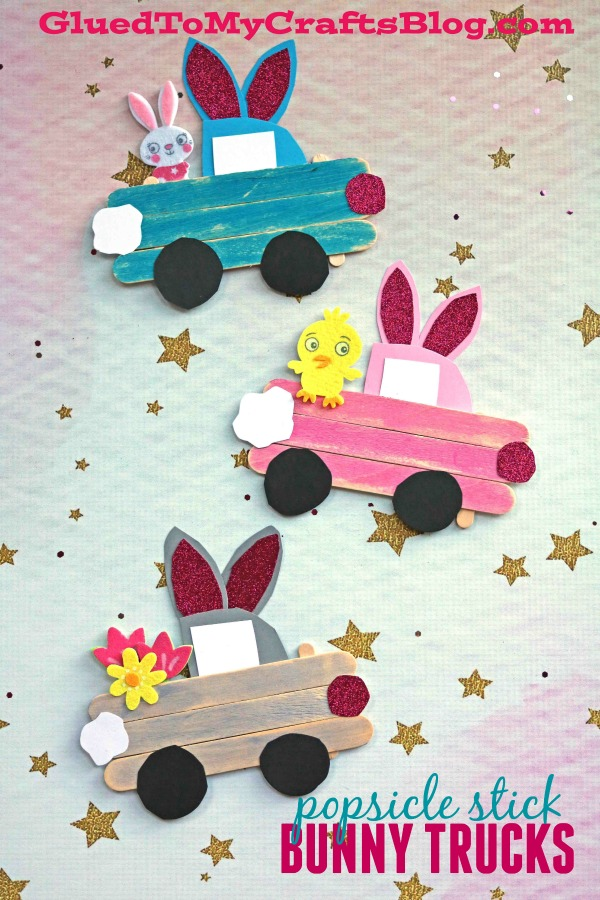 Popsicle Stick Easter Bunny Trucks - Kid Craft