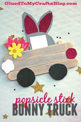 Popsicle Stick Easter Bunny Trucks - Kid Craft