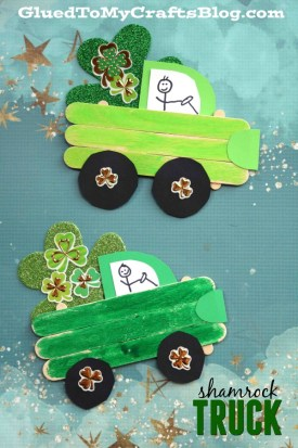 Popsicle Stick St. Patrick's Day Truck - Kid Craft