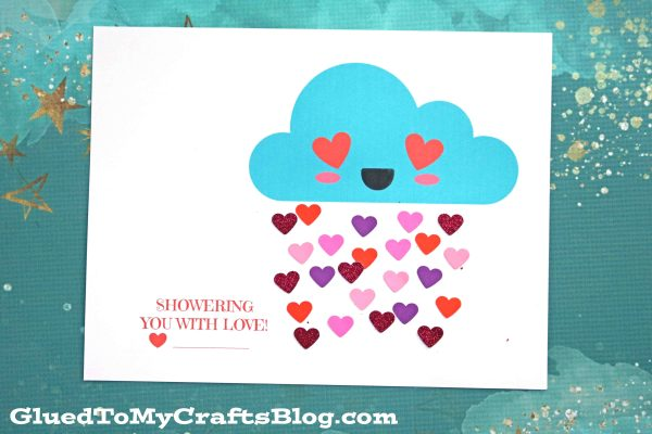 Showering You With Love - Valentine Cloud Craft