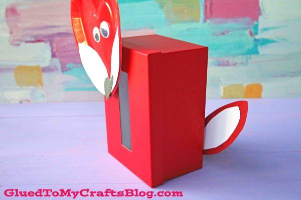 Fox Valentine's Day Card Box Craft