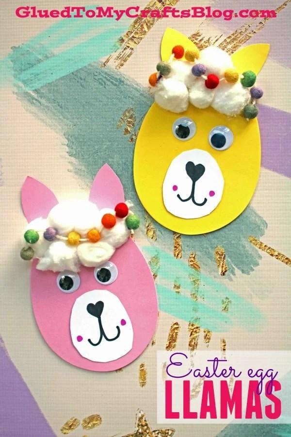 Easter Egg Llama - Kid Craft
