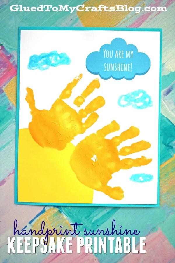 Free Keepsake Printable - You Are My Sunshine