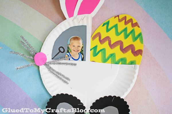 Paper Plate Bunny Monster Truck - Kid Craft