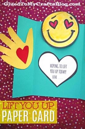 Handprint Lift You Up Card - Kid Craft