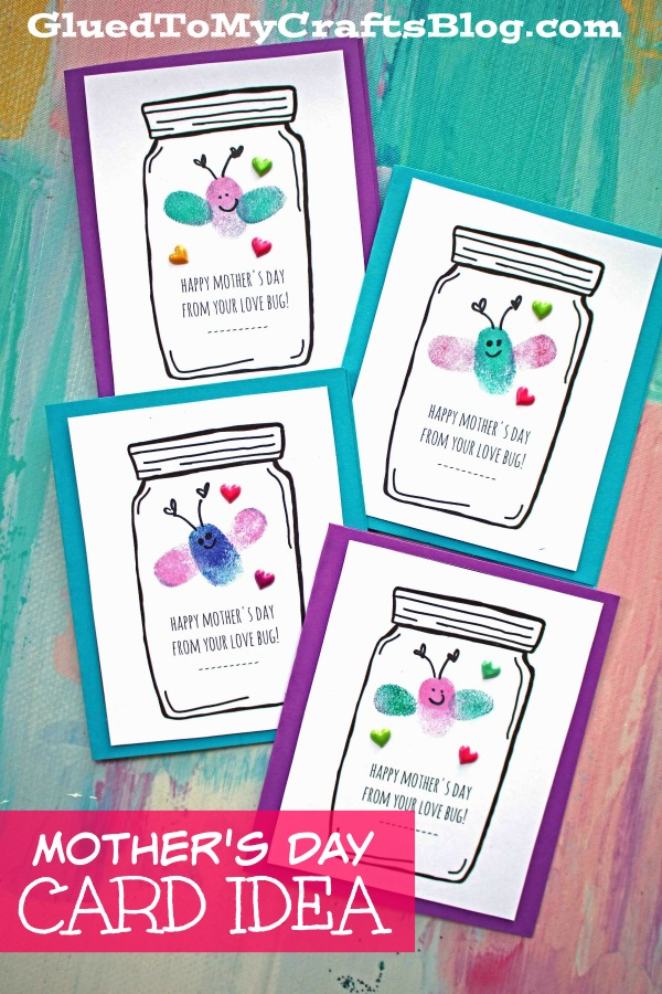 photo relating to Free Printable Mothers Day Crafts named Moms Working day Get pleasure from Bug Playing cards - Little one Craft