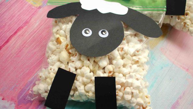 Creative Popcorn Sheep Kid Craft