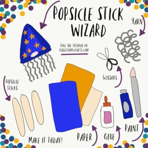 Popsicle Stick Wizard Hat - Kid Craft