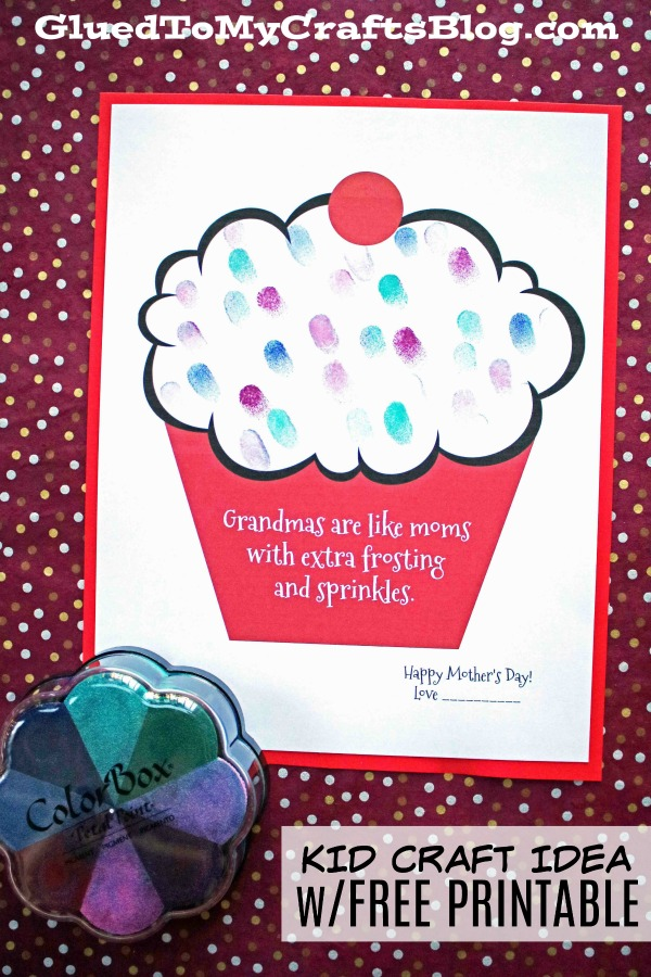 Grandmas Are Like Moms With Extra Frosting - Kid Craft