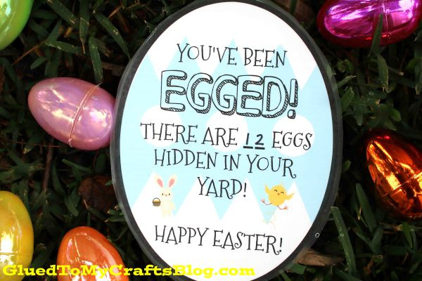 You've Been EGGED! Fun Easter Gift Idea