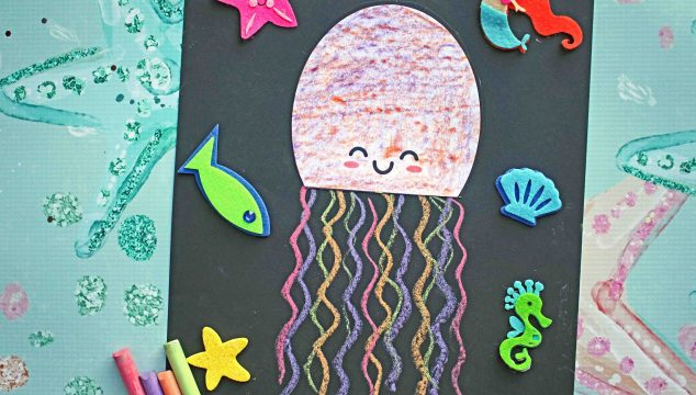 Paper Chalk Art Jellyfish - Kid Craft