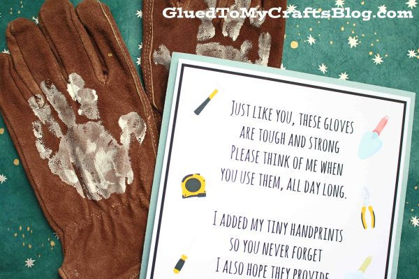 Handprint Work Gloves - Gift Idea