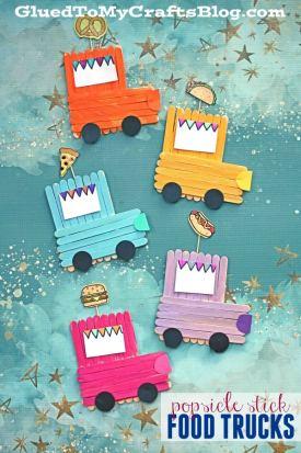 Popsicle Stick Food Truck - Kid Craft