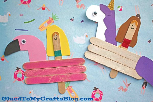 Popsicle Stick Pool Float Friend Puppets