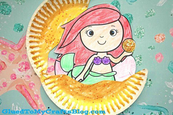 Under The Sea Paper Plate Mermaid In Clam - Kid Craft