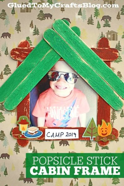 Popsicle Stick Cabin Picture Frame - Kid Craft