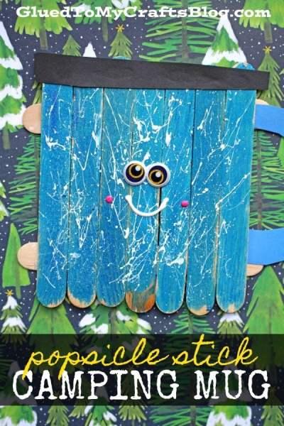 Popsicle Stick Camping Mug - Kid Craft