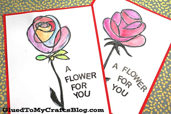 Watercolor Flower Art Project For Kids
