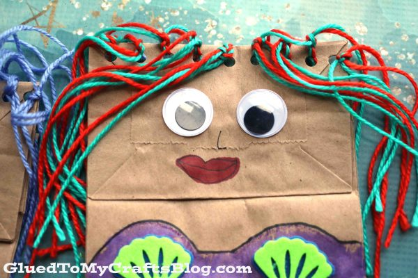 Paper Bag Mermaid Puppet - Kid Craft