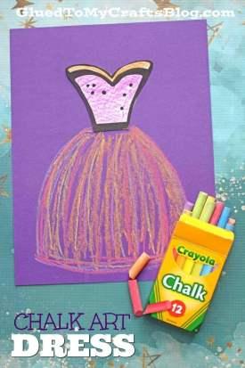 Paper Chalk Art Dress - Kid Craft