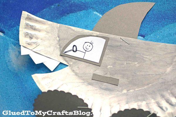 Paper Plate Shark Car - Kid Craft