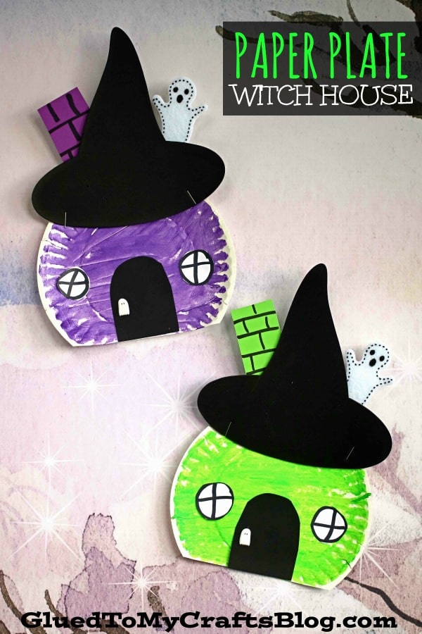 Wickedly Easy - Paper Plate Witch House Craft For Kids