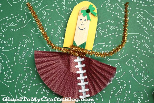 Popsicle Stick Cheerleader Friend - Kid Craft