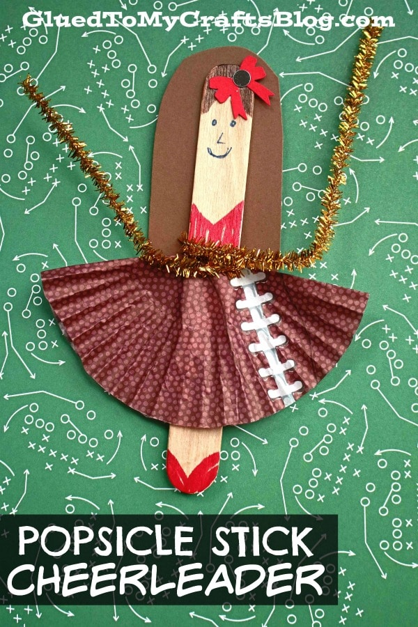 Popsicle Stick Cheerleader Puppet - Kid Craft
