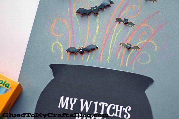 Chalk Art Witch Cauldron - Kid Craft