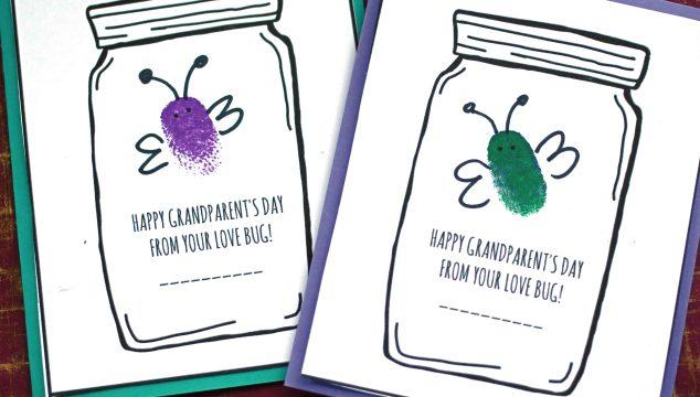 Grandparent's Day Love Bug Cards - Kid Craft
