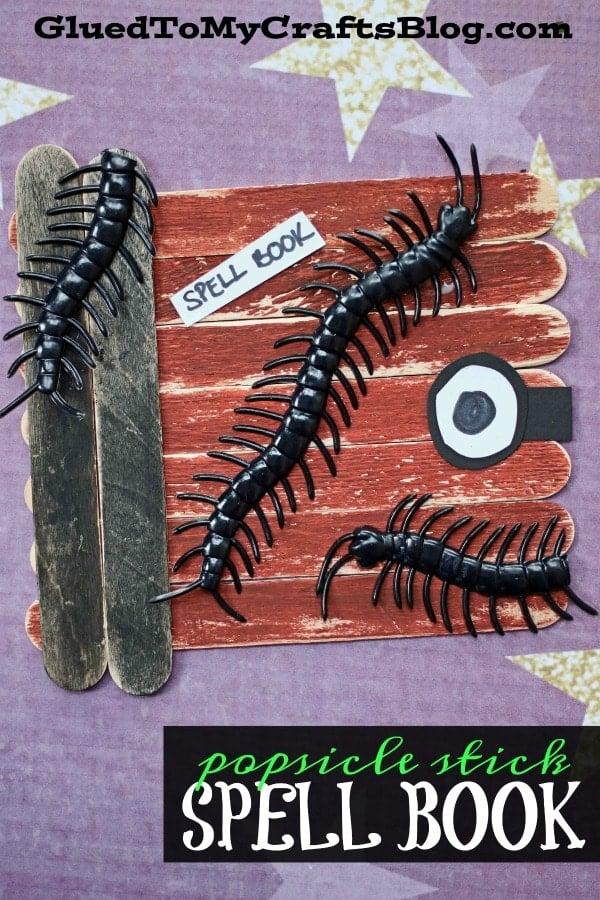 Hocus Pocus Inspired - Popsicle Stick Spell Book