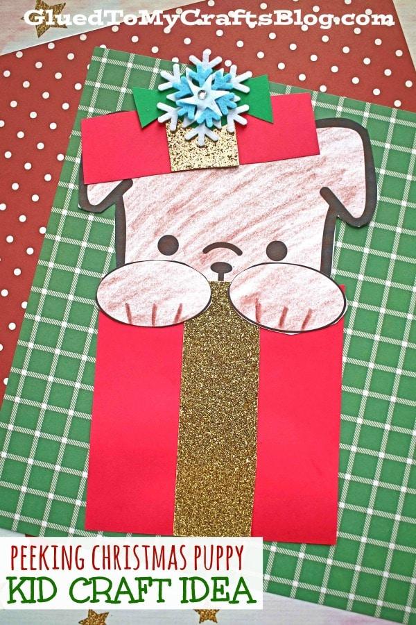 Peeking Christmas Puppy