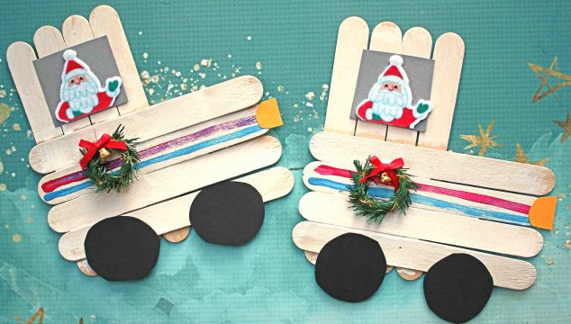 Popsicle Stick Christmas Truck - Kid Craft