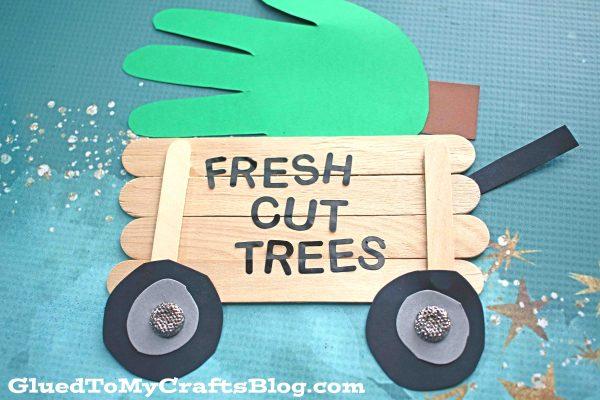 Popsicle Stick Christmas Tree Wagon - Kid Craft