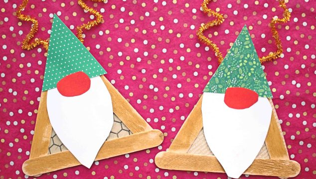 Popsicle Stick Reindeer Gnome - Kid Craft