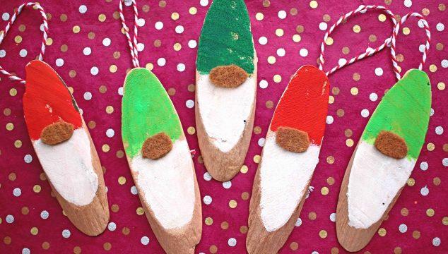 DIY Wood Slice Christmas Gnome Craft