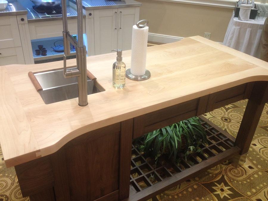 Hard Maple Wood Countertop Butcher Block Countertop Bar Top on Maple Countertops id=95814