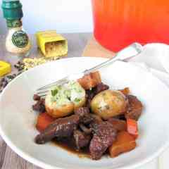 Beef Stew and Gluten Free Dumplings