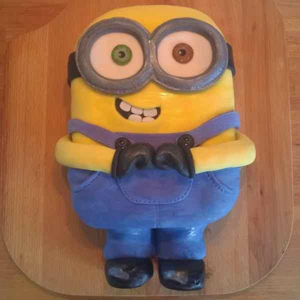 Lewis' 9th Birthday Cake Bob the Minion! Gluten Free Sponge Cake