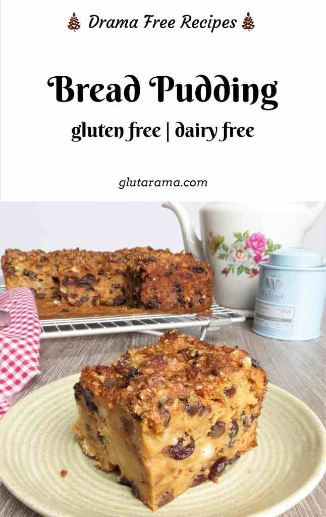 Gluten Free, Dairy Free Bread Pudding that made with my very own gluten free suet recipe. A traditional recipe by my Nanny. #glutenfree #dairyfree #breadpudding #traditionalrecipe #freefrom #teatime