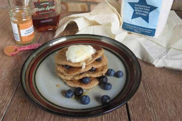 Pancake Day! Apple and Cinnamon Pancakes; vegan, dairy free, egg free, gluten free